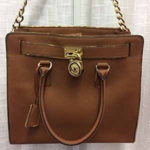Michael Kors Dark Gold Hamilton Satchel